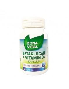 Zona Vital Beta Glukan Vital 1,3/1,6 kapsule + D3 vitamin
