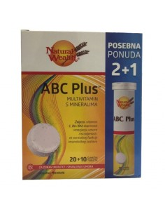 Natural Wealth ABC Plus šumeće tablete 2+1 GRATIS