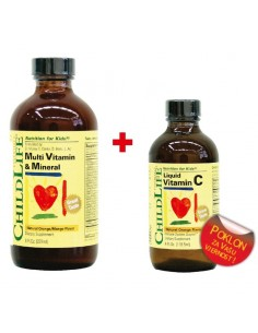Child Life Multivitamini i minerali + Vitamin C GRATIS