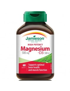 Jamieson Magnezij 500 mg + D3 tablete
