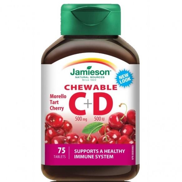 Jamieson Vitamin C i D bomboni s okusom trešnje