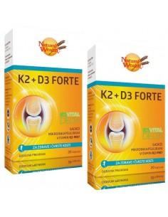 Natural Wealth K2 + D3 forte kapsule 1+1 GRATIS