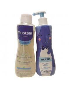 Mustela Nježni šampon 500 ml + Dermatološki gel 500 ml GRATIS