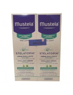 Mustela Stelatopia emolient krema 200 ml + Dermatološki gel 500 ml GRATIS