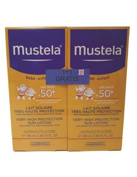 Mustela Sun Mlijeko za zaštitu od sunca SPF50+ 1+1 GRATIS