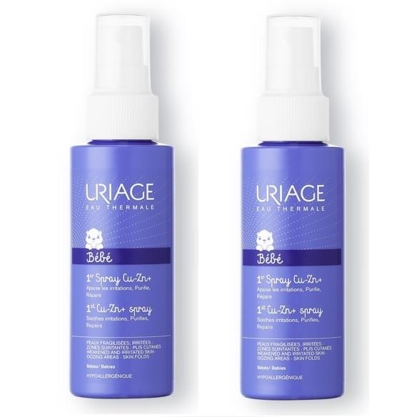 Uriage Baby Cu-Zn sprej 1+1 GRATIS