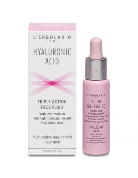 Lerbolario Acido Ialuronico fluid za lice trostrukog djelovanja