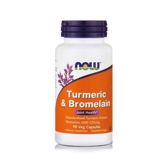 Now foods Turmeric and Bromelain kapsule