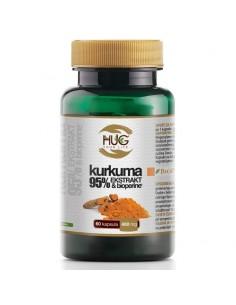 Hug your Life Kurkuma 95% ekstrakt i Bioperin kapsule