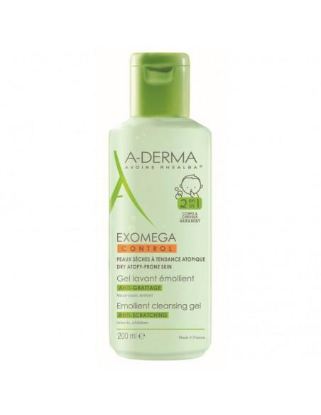 A-derma Exomega Control Emolijentni gel za čišćenje 2u1