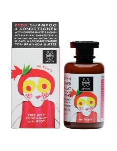 Apivita Kids Shampoo & Conditioner with pomegranate & honey