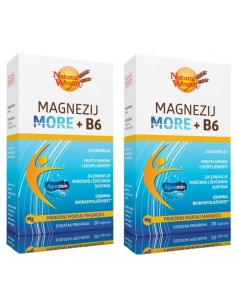 Natural Wealth Magnezij More + B6 1+1 GRATIS