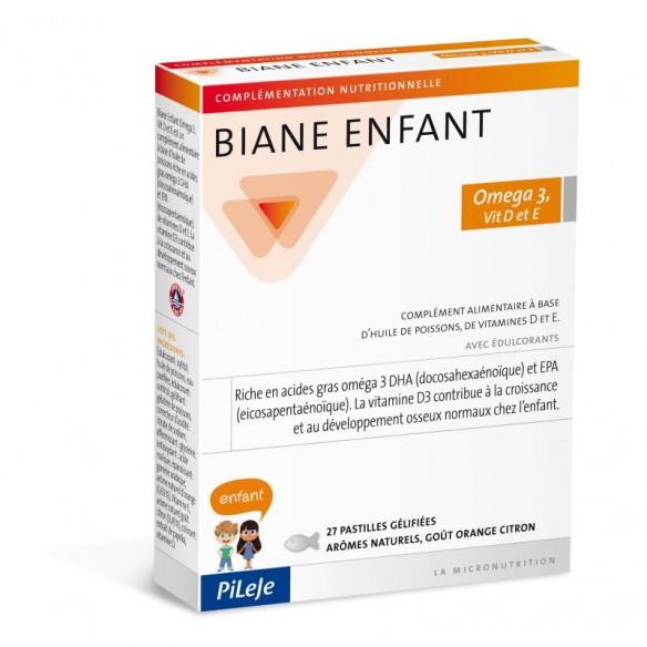 Pileje Biane Enfant Omega 3, vitamin D i E pastile