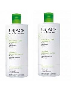 Uriage Termalna micelarna voda 2x500 ml za čišćenje mješovite/masne kože