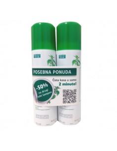 Klorane Kopriva šampon za suho pranje masne kose DUO