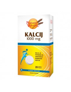 Natural Wealth Kalcij 1000 mg šumeće tablete