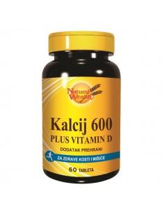 Natural Wealth Kalcij 600 i Vitamin D tablete