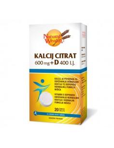 Natural Wealth Kalcij citrat 600 mg + D 400 i.j. šumeće tablete