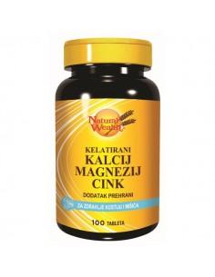 Natural Wealth Kalcij Magnezij Cink tablete