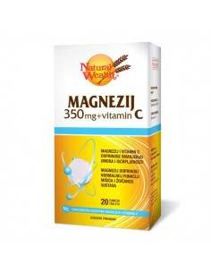 Natural Wealth Magnezij 350 mg i vitamin C šumeće tablete