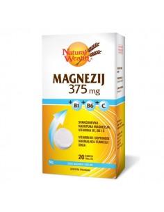 Natural Wealth Magnezij 375 MG + B1 + B6 + C šumeće tablete