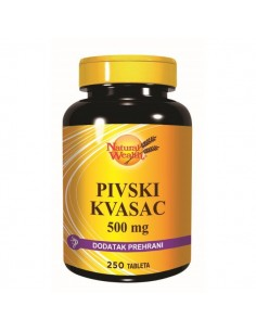 Natural Wealth Pivski kvasac 500 mg tablete